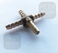 X - Schlauchverbinder mit Microdüse 6 mm