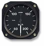 Fahrtmesser 200 km/h WINTER (57mm)
