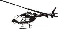 Bell 206 Jetranger schwarz