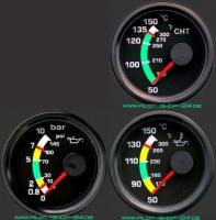 Rotax-Motorkontrollinstrumenten-Set II