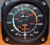 Fahrtmesser 250 km/h WINTER (80 mm)