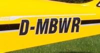 Flugzeugkennzeichen für Rumpf 30 cm