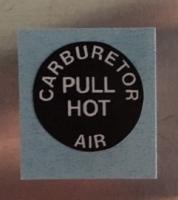 Bowdenzugbeschriftung CARBURETOR AIR