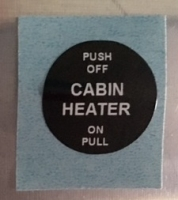 Bowdenzugbeschriftung CABIN HEATER