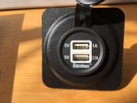 USB-Steckdose für 57 mm Panelbohrung
