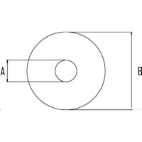 Unterlegscheibe PVC, M6x18