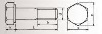6 Kant Gewindeschraube mit Schaft M5 x 45 mm