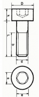 Innensechskantschraube M5 x 70