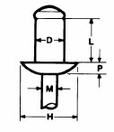 Blindniete Edelstahl Rundkopf 4x12 BTD4012