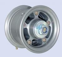 4 Hauptfahrwerksfelge mit Bremse und Achse