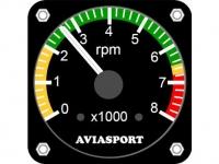 Drehzahlmesser AVIOSPORT für Rotax 2-Takt