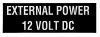 Schriftzug EXTERNAL POWER 12 VOLT